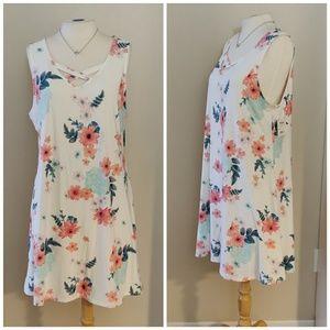 Mudd | NWT Soft Sleeveless White Floral Dress